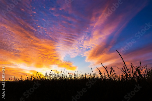Canvas Prints Orange Glow Beautiful sunset and sunrise at west coast national park , soth africa