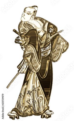 浮世絵 歌舞伎役者 その22 ゴールドバージョン