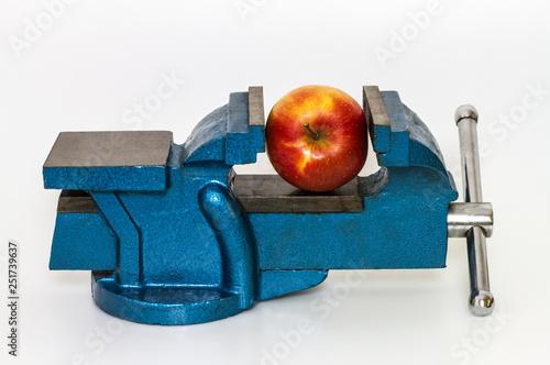Valokuva Apfel im Schraubstock
