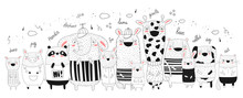Vector Collection Of Doodle Fu...