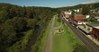Aerial views of Thomas WV revealing the intimacy and grandness of the