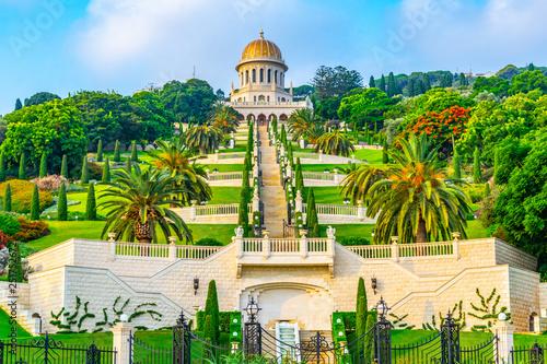 Keuken foto achterwand Temple Beautiful Bahai gardens in Haifa, Israel
