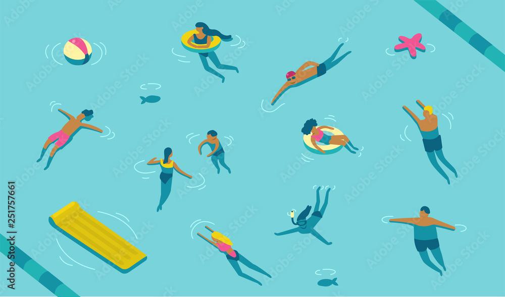 Fototapety, obrazy: swimming