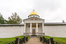 St. Michael Cathedral Of The Holy Dormition Pskovo-Pechersky Pskov-Caves Monastery. Pechory, Russia.
