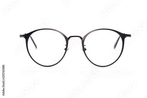 Fotografia Image of modern fashionable spectacles isolated on white background, Eyewear, Gl