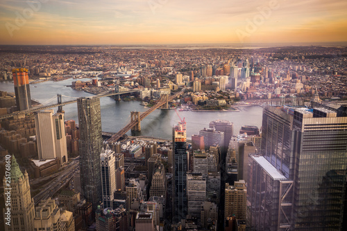 Views of New York from the One World Trade Center Canvas Print