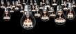 Leinwandbild Motiv Light Bulbs Concept