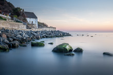 Runswick Bay Fisherman's Cottage On The North East Coast Of Yorkshire In England