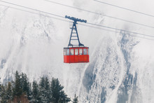 Red Ski Lift In The Background...