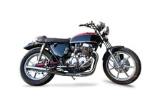 Retro Motorcycle Isolated On W...