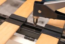 Riveter Tool For Repairing Furniture Close-up