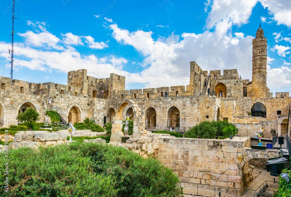Fototapeta Inner courtyard of the tower of David in Jerusalem, Israel