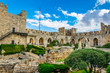 canvas print picture - Inner courtyard of the tower of David in Jerusalem, Israel