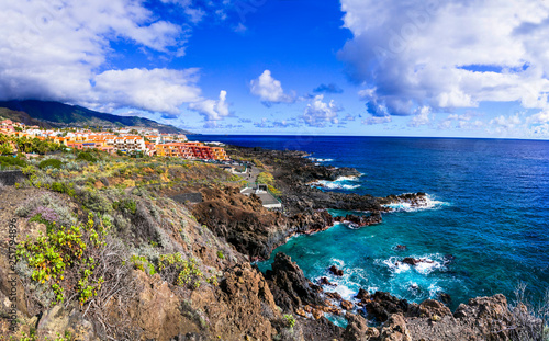 Ntaural beauty of unspoiled La Palma island Canvas Print