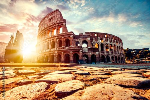 The ancient Colosseum in Rome at sunset Tapéta, Fotótapéta