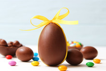 Easter Composition With Choco...
