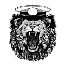 Lion For Tattoo, T-shirt, Emblem, Badge, Logo, Patch