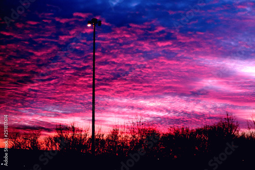 Photo Stands Candy pink sunrise
