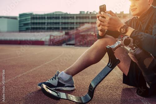 Obraz Fitness with the help of smart apps - fototapety do salonu