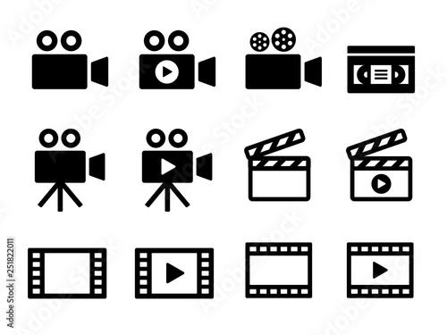 ビデオアイコンセット Billede på lærred