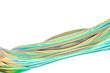 3d rendering, colorful transparent silk