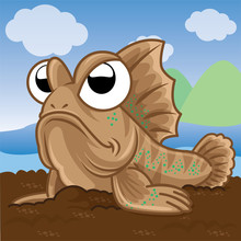Mudskipper Cartoon, Animal Cut...