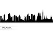 Jakarta city skyline silhouette background