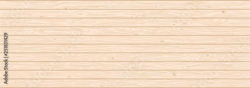 Obraz Light wood textured vector background. Natural hardwood texture - fototapety do salonu