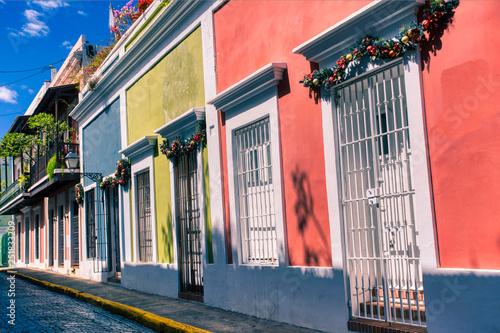 In de dag Zuid-Amerika land Colorful Streets in Old San Juan