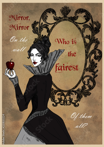 Fototapeta  Greeting card with Evil Queen