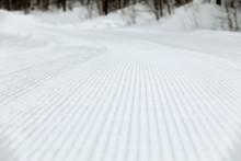 Snow Pattern On The Ski Slope