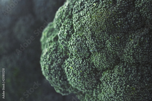 In de dag Macrofotografie Close up of green broccoli heads