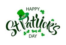 Saint Patrick Day Lettering De...