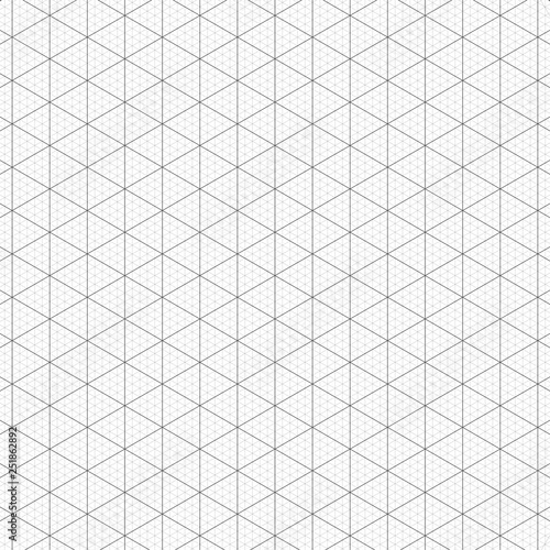 grey isometric grid on white background that have bold and thin line