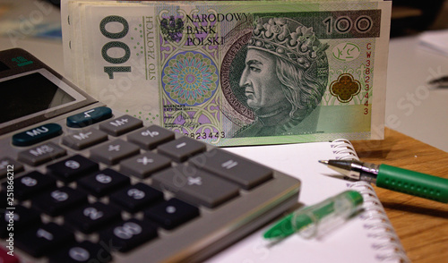 Fotomural Polish zloty national currency