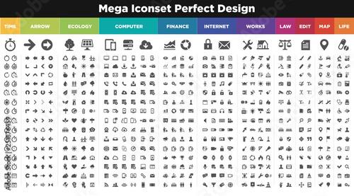 catégories icônes Canvas Print