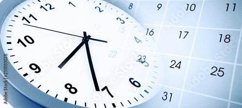 Clock and calendar Canvas Print