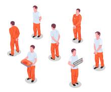 Jail Prisoners Characters Set