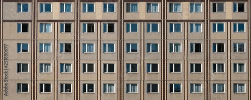 Photo  building facade, plattenbau , residential building exterior