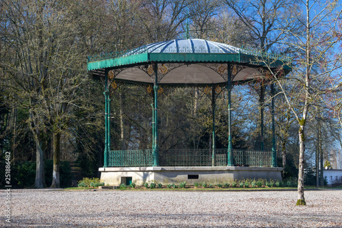 Bandstand in Public Gardens, Saint Omer, France Canvas Print