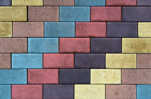 Colored Paving Slab With A Bea...