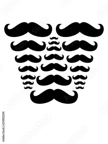 Muster Viele Schnurrbarte Mustache Schnurrbart