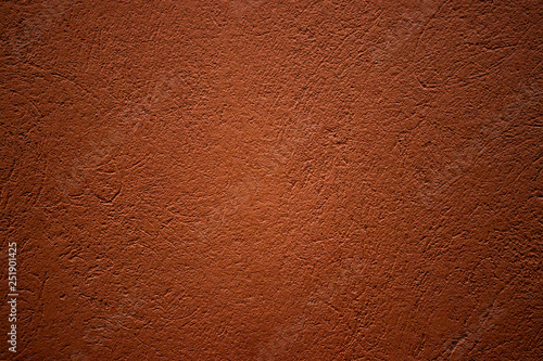 Fotografija  brown plastered wall texture, background design element
