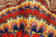 Colorful Abstract Fringe Fractal Pattern