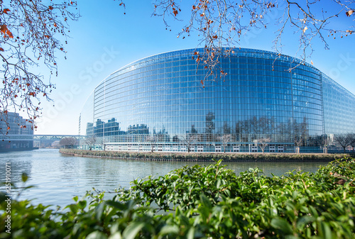 Foto  European parliament in Strasbourg, France