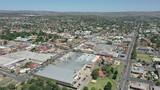 Fototapeta Do pokoju - Aerial view of the central west New South Wales town of Bathurst.