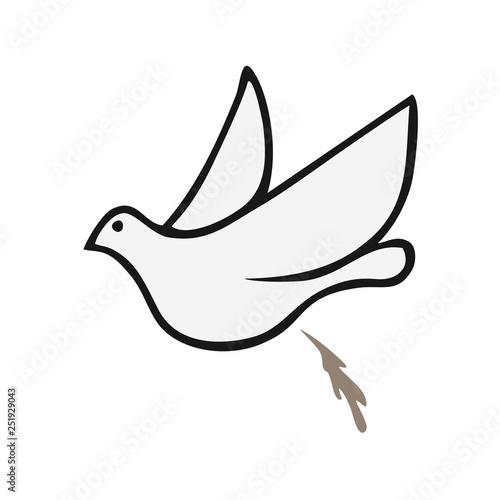 dove shiting draw Canvas Print
