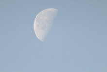 Half Moon During Daylight