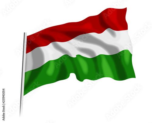 Fototapeta Flaga Węgierska obraz