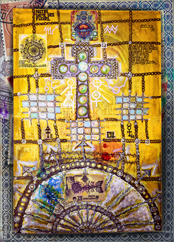 Fotobehang Imagination Celtic and ethnic cross
